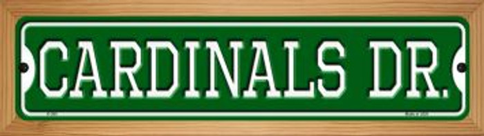 Cardinals Dr Wholesale Novelty Wood Mounted Small Metal Street Sign WB-K-950