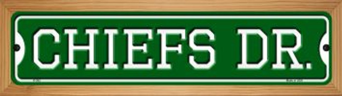 Chiefs Dr Wholesale Novelty Wood Mounted Small Metal Street Sign WB-K-952