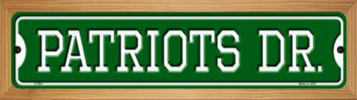 Patriots Dr Wholesale Novelty Wood Mounted Small Metal Street Sign WB-K-964