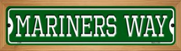 Mariners Way Wholesale Novelty Wood Mounted Small Metal Street Sign WB-K-988