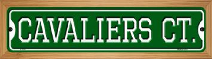 Cavaliers Ct Wholesale Novelty Wood Mounted Small Metal Street Sign WB-K-1010
