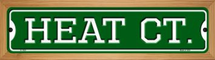 Heat Ct Wholesale Novelty Wood Mounted Small Metal Street Sign WB-K-1020