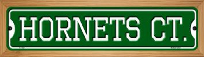Hornets Ct Wholesale Novelty Wood Mounted Small Metal Street Sign WB-K-1024