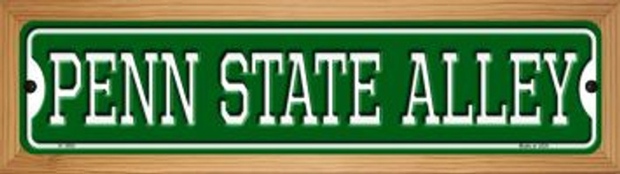 Penn State Alley Wholesale Novelty Wood Mounted Small Metal Street Sign WB-K-1090