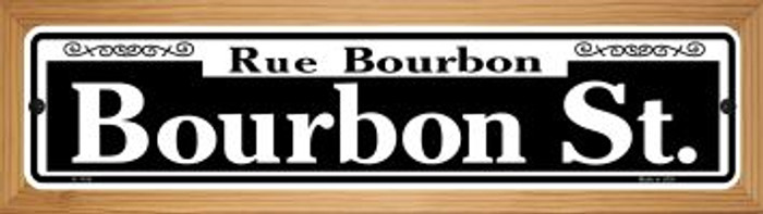 Bourbon Street Wholesale Novelty Wood Mounted Small Metal Street Sign WB-K-1106