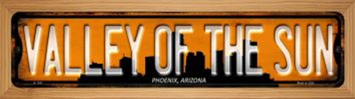 Phoenix Arizona Valley of the Sun Wholesale Novelty Wood Mounted Small Metal Street Sign WB-K-1241