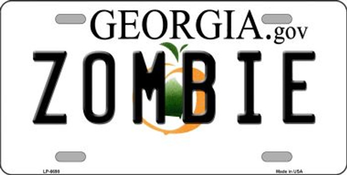 Zombie Georgia Novelty Wholesale Metal License Plate