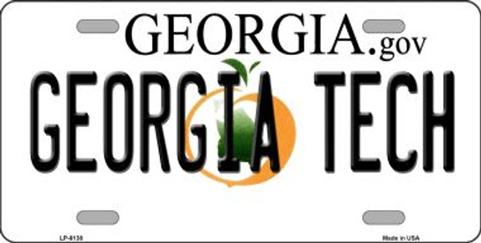 Georgia Tech Novelty Wholesale Metal License Plate