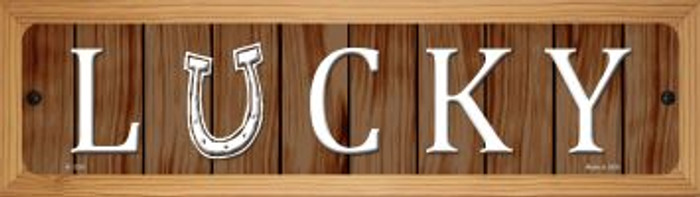 Lucky Wholesale Novelty Wood Mounted Small Metal Street Sign WB-K-1336