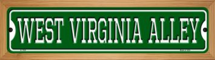West Virginia Alley Wholesale Novelty Wood Mounted Small Metal Street Sign WB-K-1104