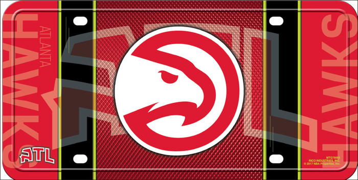 Atlanta Hawks Wholesale Novelty Metal License Plate LP-5627