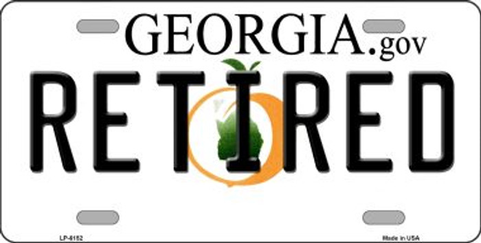 Retired Georgia Novelty Wholesale Metal License Plate
