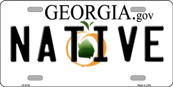 Native Georgia Novelty Wholesale Metal License Plate