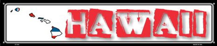 Hawaii State Outline Wholesale Novelty Metal Street Sign ST-310