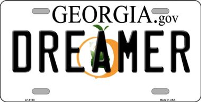 Dreamer Georgia Novelty Wholesale Metal License Plate