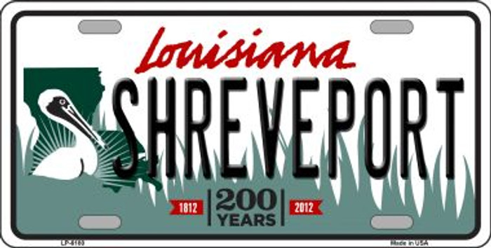 Shreveport Louisiana Novelty Wholesale Metal License Plate