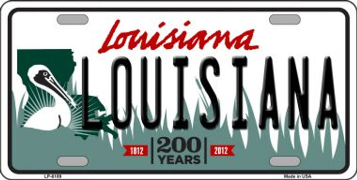 Louisiana Novelty Wholesale Metal License Plate