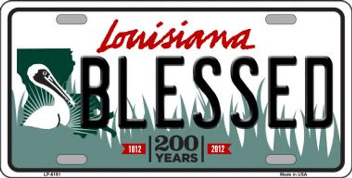 Blessed Louisiana Novelty Wholesale Metal License Plate
