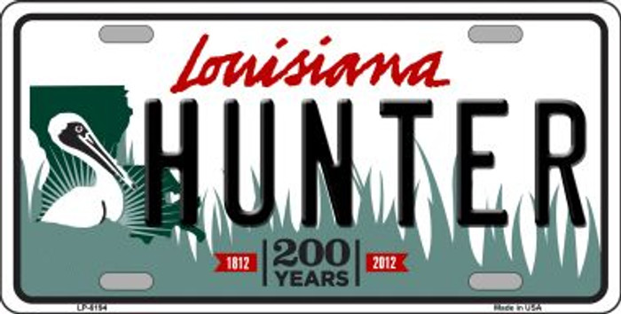 Hunter Louisiana Novelty Wholesale Metal License Plate