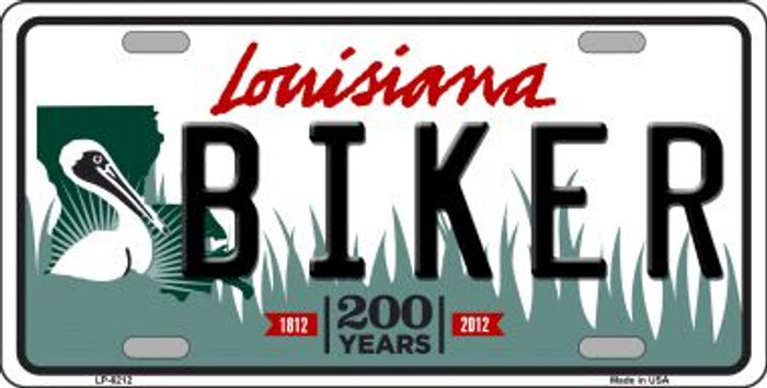 Biker Louisiana Novelty Wholesale Metal License Plate