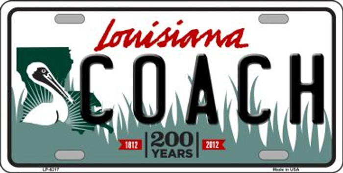 Coach Louisiana Novelty Wholesale Metal License Plate