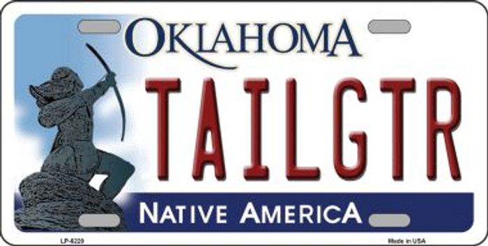 Tailgtr Oklahoma Novelty Wholesale Metal License Plate LP-6220