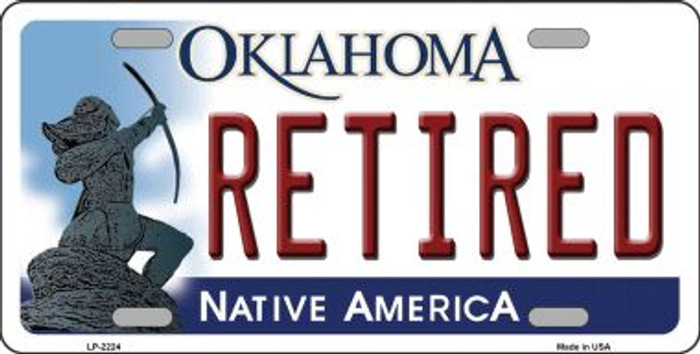 Retired Oklahoma Novelty Wholesale Metal License Plate LP-6224