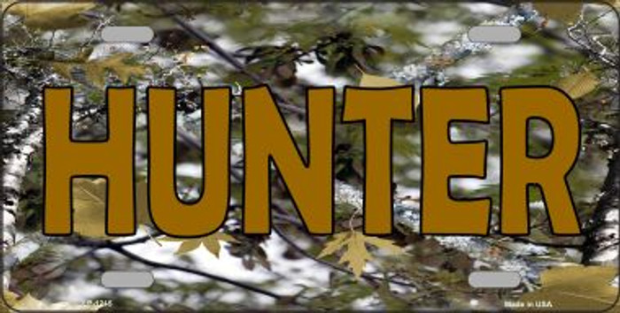 Hunter Camouflage Novelty Wholesale Metal License Plate LP-1215