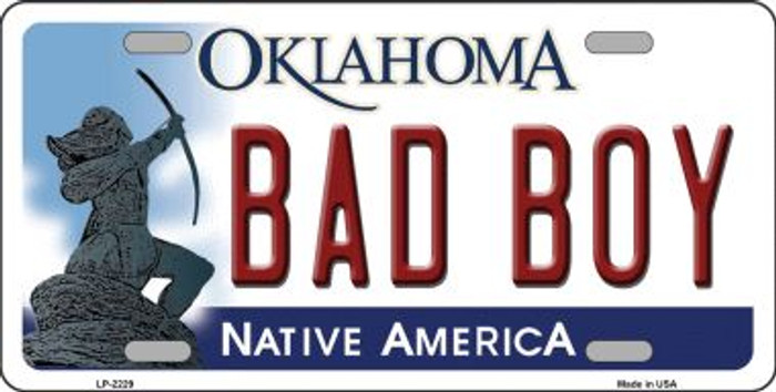 Bad Boy Oklahoma Novelty Wholesale Metal License Plate LP-6229