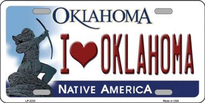 I Love Oklahoma Novelty Wholesale Metal License Plate LP-6233