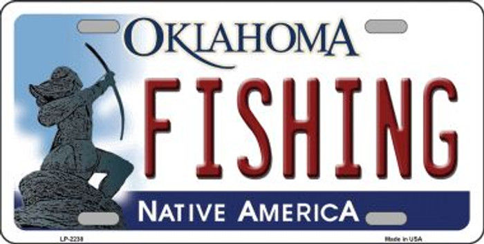 Fishing Oklahoma Novelty Wholesale Metal License Plate LP-6238