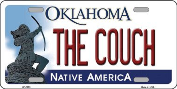 The Couch Oklahoma Novelty Wholesale Metal License Plate LP-6253