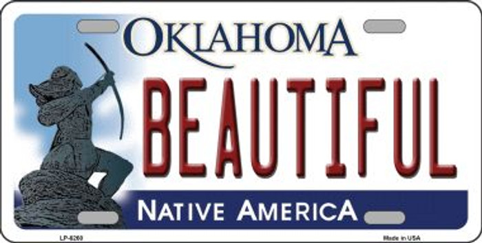 Beautiful Oklahoma Novelty Wholesale Metal License Plate LP-6260