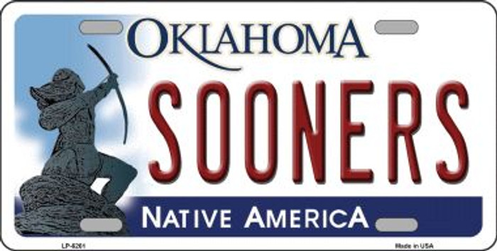 Sooners Oklahoma Novelty Wholesale Metal License Plate LP-6261