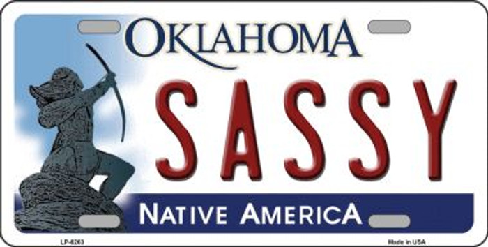 Sassy Oklahoma Novelty Wholesale Metal License Plate LP-6263