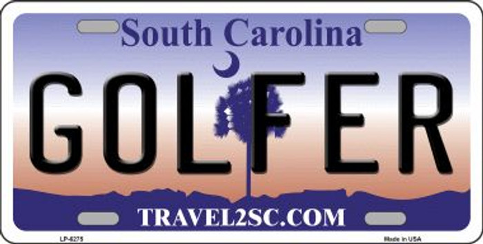 Golfer South Carolina Novelty Wholesale Metal License Plate LP-6275