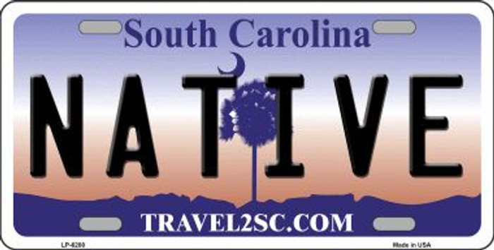 Native South Carolina Novelty Wholesale Metal License Plate LP-6280