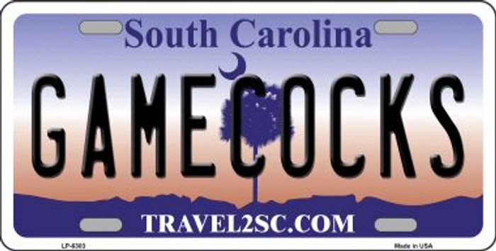 Gamecocks South Carolina Novelty Wholesale Metal License Plate LP-6303