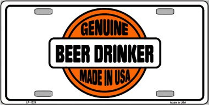 Genuine Beer Drinker Novelty Wholesale Metal License Plate
