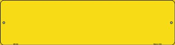 Yellow Solid Blank Wholesale Novelty Mini Metal Street Sign MK-025