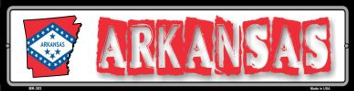 Arkansas State Outline Wholesale Novelty Mini Metal Street Sign MK-303