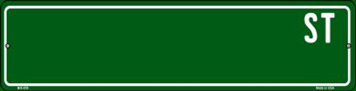 Green Street Blank Wholesale Novelty Mini Metal Street Sign MK-659