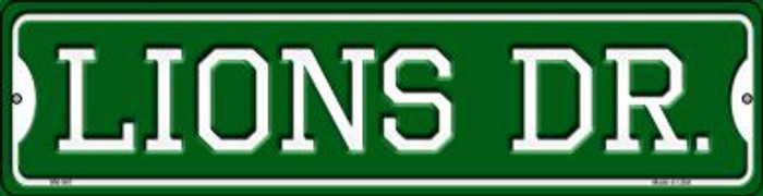 Lions Dr Wholesale Novelty Mini Metal Street Sign MK-961