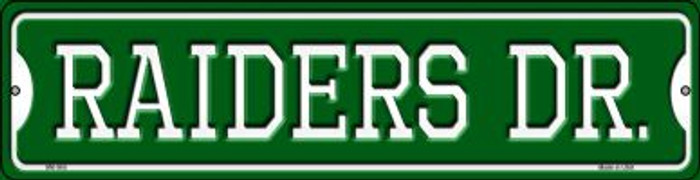 Raiders Dr Wholesale Novelty Mini Metal Street Sign MK-965