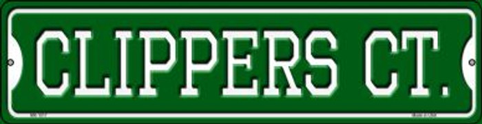 Clippers Ct Wholesale Novelty Mini Metal Street Sign MK-1017