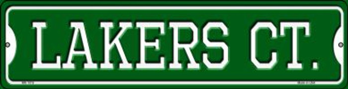 Lakers Ct Wholesale Novelty Mini Metal Street Sign MK-1018