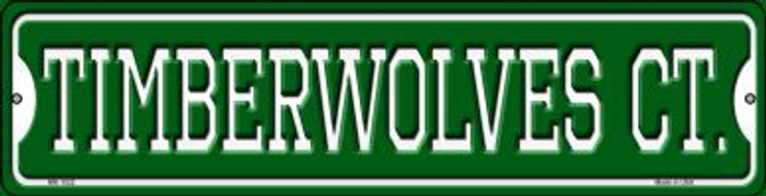 Timberwolves Ct Wholesale Novelty Mini Metal Street Sign MK-1022