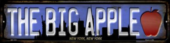 New York The Big Apple Wholesale Novelty Mini Metal Street Sign MK-1243