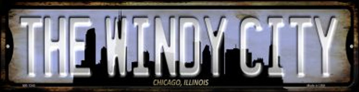 Chicago Illinois The Windy City Wholesale Novelty Mini Metal Street Sign MK-1245