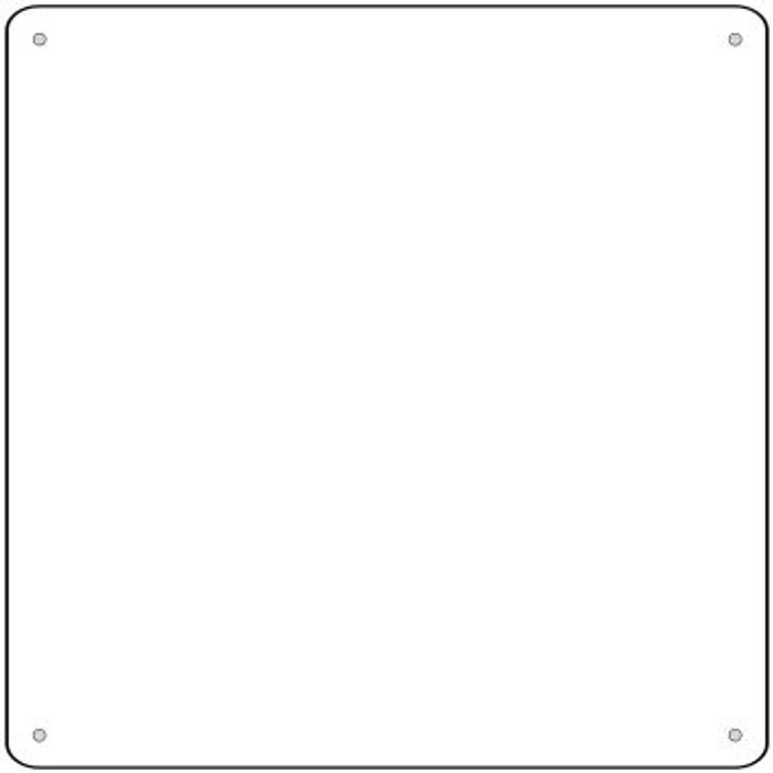 """White Dye Sublimation 6"""" Wholesale Novelty Metal Small Square Sign MSQ-000"""